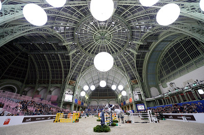 France, Paris : Malin BARYARD-JOHNSSON riding H&M Second Chance during the Saut-Hermès Jumping competition in the Grand-Palais, on March 18th , 2017, in Paris, France - Photo Christophe Bricot