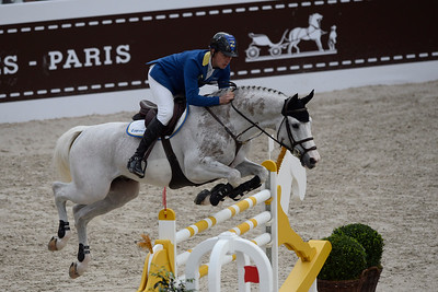 France, Paris : Christian AHLMANN riding Colorit during the Saut-Hermès Jumping competition in the Grand-Palais, on March 17th , 2017, in Paris, France - Photo Christophe Bricot