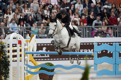 France, Paris : Roger Yves BOST ridng Pegase du Murier during the Saut-Hermès Jumping competition in the Grand-Palais, on March 17th , 2017, in Paris, France - Photo Christophe Bricot