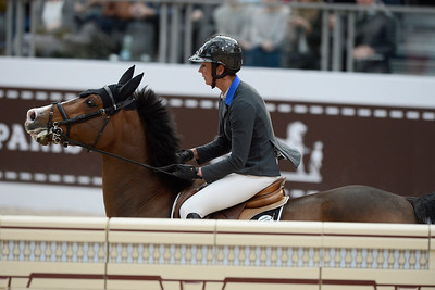 France, Paris : Penelope LEPREVOST riding Ratina d'la Rousserie during the Saut-Hermès Jumping competition in the Grand-Palais, on March 17th , 2017, in Paris, France - Photo Christophe Bricot