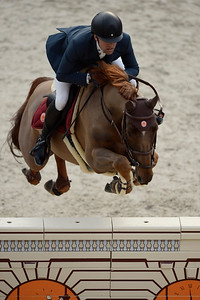 France, Paris : Simon DELESTRE riding Hermes Ryan during the Saut-Hermès Jumping competition in the Grand-Palais, on March 17th , 2017, in Paris, France - Photo Christophe Bricot