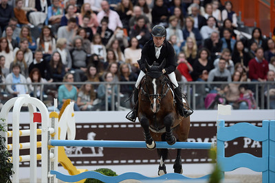France, Paris : Rolf-Göran BENGTSSON riding Casall ASK during the Saut-Hermès Jumping competition in the Grand-Palais, on March 17th , 2017, in Paris, France - Photo Christophe Bricot