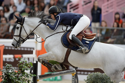 France, Paris : Malin BARYARD-JOHNSSON riding H&M Cue Channa 42 during the Saut-Hermès Jumping competition in the Grand-Palais, on March 17th , 2017, in Paris, France - Photo Christophe Bricot