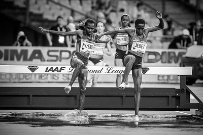 France, Paris : Kiyeno, Jebet (New world record), (3000m Steeplechase women),  during the IAAF Diamond League - Meeting of Paris   in August 27th , 2016, in Paris, France - Photo Christophe Bricot.