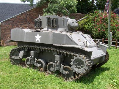 combinedoperations  Item number: 150144001167  <br />  <br /> <br /> You are bidding on an M5A1 Light Tank. Please note the raised rear deck on the hull, lack of the hatch on the side of the turret, turret AA machine gun mount and early pattern pioneer tool stowage arrangement on the rear of the hull. Unsure of manufacturer or serial #. Tank is in remarkably complete condition. I estimate she is 98% all there, including the twin Cadillac engines. The M6 37mm gun has been deactivated. Only the barrel is present & has slipped of the gun mount, but is in good shape too. Only items determined to be missing after a quick visual inspection are the crew periscopes and the cradle for the M1919A4 on the turret  AA mount. Exterior of the tank looks OK aesthetically. It has suffered from neglect and exposure due to prolonged outdoor display. When found, the turret hatches had been left in the open position. Interior has rust and scale. Those of you who are familiar with these tanks know at least two things: FAR worse tanks have been acquired and restored to pristine condition by very dedicated collectors - AND- these are RARELY offered for sale at ANY price. Please look at the photos, do your research, feel free to ask your questions and bid often. The only question I will NOT answer is any request for the Reserve Price.....so don't waste your time. The FINE PRINT......You are bidding on an M5A1 Light Tank. As-Is, Where-is. Every effort has been made to provide accurate & complete information. Bidders with less than 10 positive feedback need to contact me before bidding or your bids will be cancelled. This offer is the real deal, not for entertainment value. No Title available for this vehicle. A Bill of Sale can be provided. A non-refundable 25% deposit if due within 5 days after the end of the auction. Full payment due within 14 days. Acceptable forms of payment include verifable Cashier's Checks drawn from a US bank in US$ or personal checks from US banks. Personal checks will be accepted only if they can be verified as legit and time allowed for the check to clear. Vehicle will not be released to any transporter if any payment has not cleared, no exceptions. Vehicle needs to be picked up in 30 days or storage fees may apply. Advance appointment required for loading. All loading & transportation arrangements & fees are the winning bidder's responsibility. Will assist with loading but will not load for you. Please note that for safety reasons, this vehicle was loaded & unloaded with a mobile crane arranged by the transporter. I have been unable to determine if the vehicle steers properyly & safely for loading using a winch. Thanks & Good Luck bidding !!!! **** Please see my other acution for a CCKW 353 parts truck !!! ****