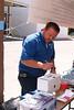Fountain Installer Dave Osteen enters his name into the raffle