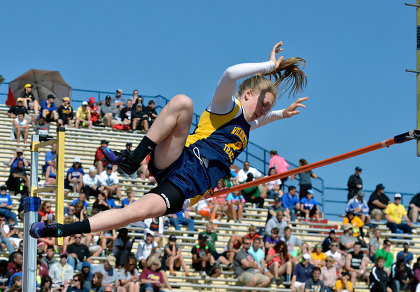 Cory Byknish/Herald  <br /> Julia Strobel, Pole Vault, Wilmington