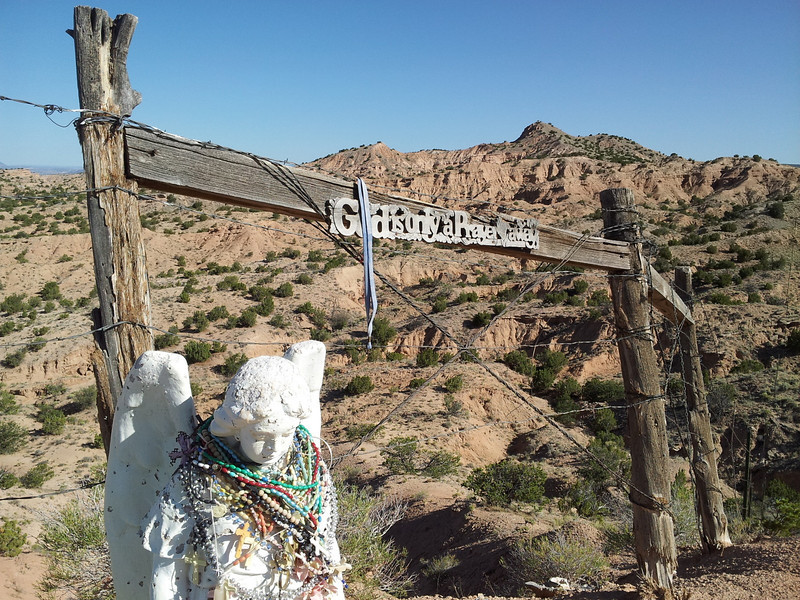 "God is only a prayer away - a shrine off the scenic byway ""High road to Taos"""