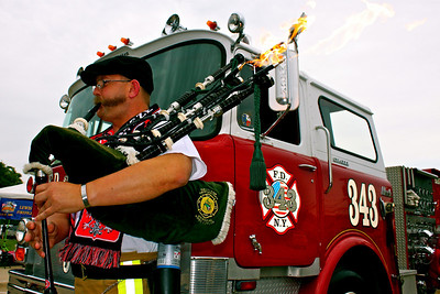 Kenny Rybka and his famous pyro-pipes