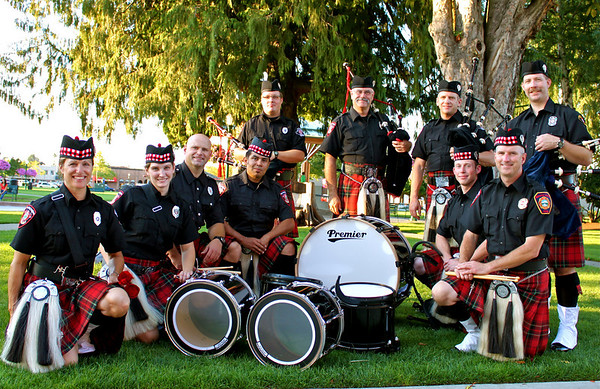 Pierce County Firefighter Pipes & Drums Band - Inaugural performance
