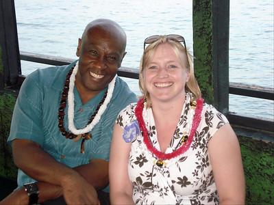 Reggie and Janet, tiki boat prom, 2008