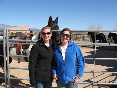 Emily and Roya at the Dude Ranch in Arizona, 2008