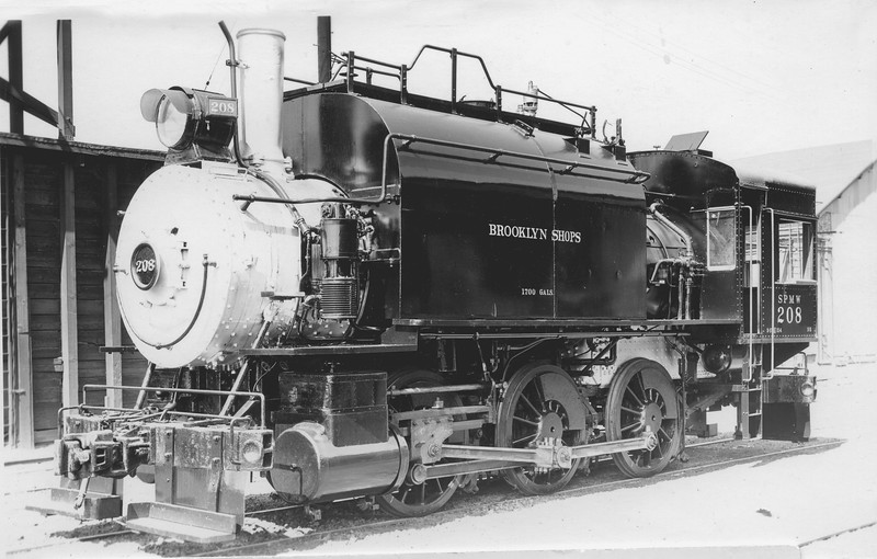 SPMW 208 Class S-5, left side, Brooklyn OR, ~1940 <br /> (D. H. Roberts)
