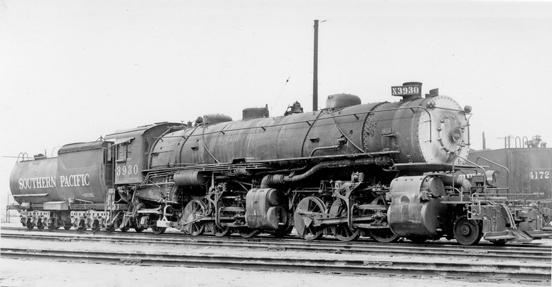 3930 Class MM-3, right side, (replacement C-160 tender) Los Angeles CA, ~1952  <br /> (D. S. Richter collection)