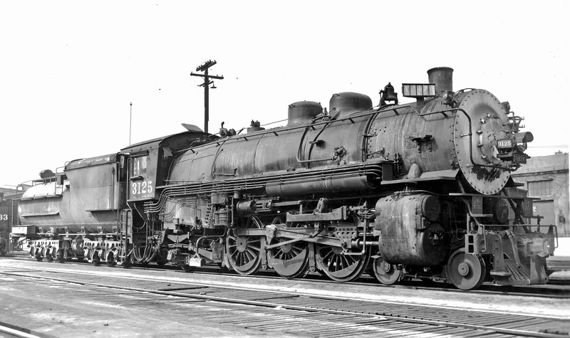 3125 Class P-12, right side, Los Angeles General Shops, CA, May 1949  <br /> (G. M. Best)