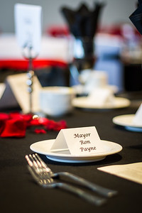 Place Setting for Mayor Payne