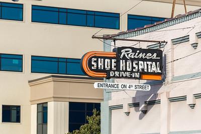 Raine's Shoe Hospital Sign