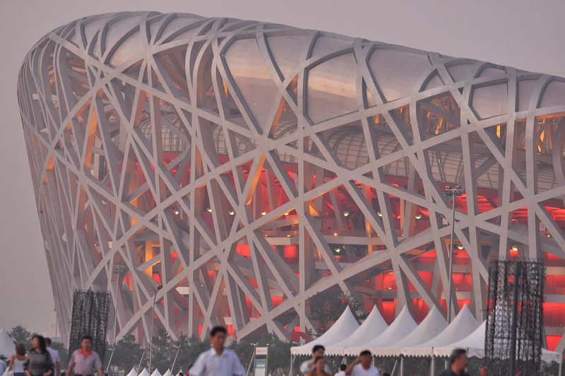 China's capital Beijing: Bird's Nest National Stadium built for 2008 Olympics 2
