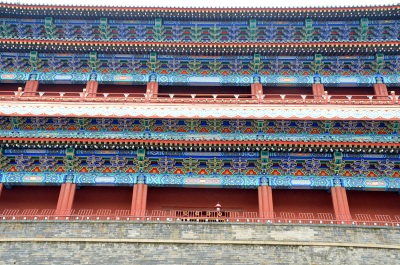 Zhengyangmen or Qianmen Gate Tower on the south side of Tiananmen Square, Beijing (2)