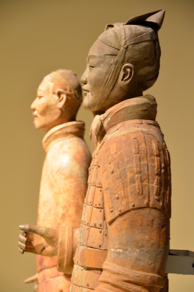 Terracotta soldiers at the National Museum, Beijing China