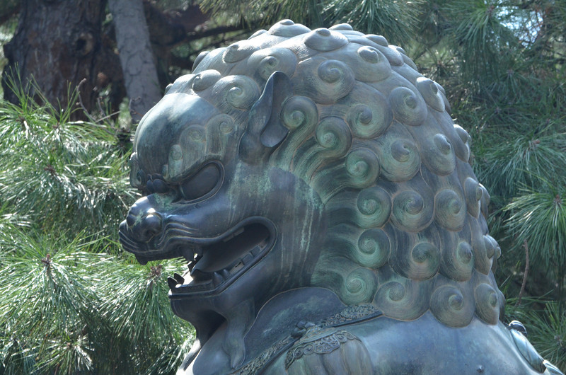 Chinese guardian lioness, a Shishi, at the Summer Palace in Beijing. Such lions were thought to have mystic powers for protection (1)