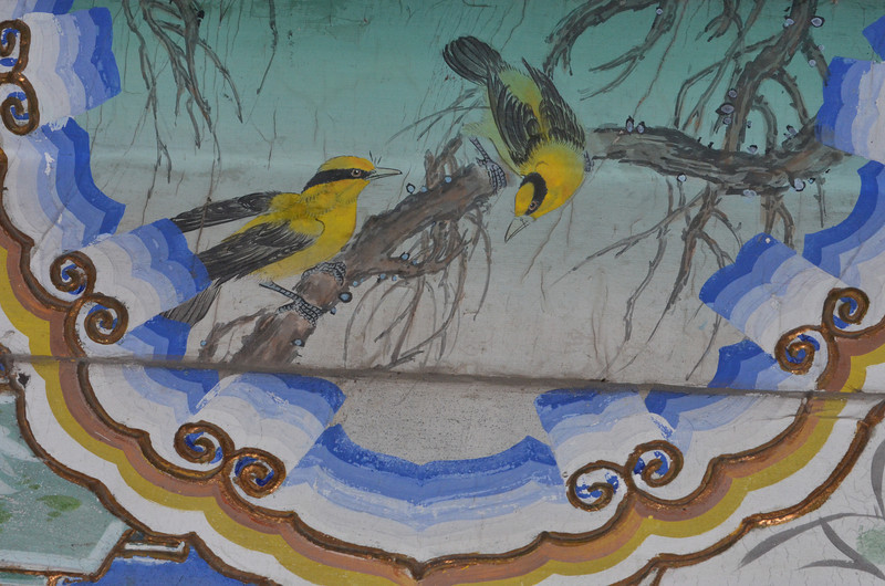 Painting of birds along a walkway at the Summer Palace in Beijing, China