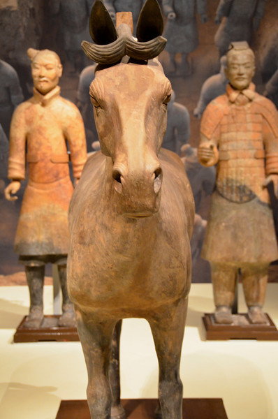 Terracotta horse and soldiers in the National Museum, Beijing, China
