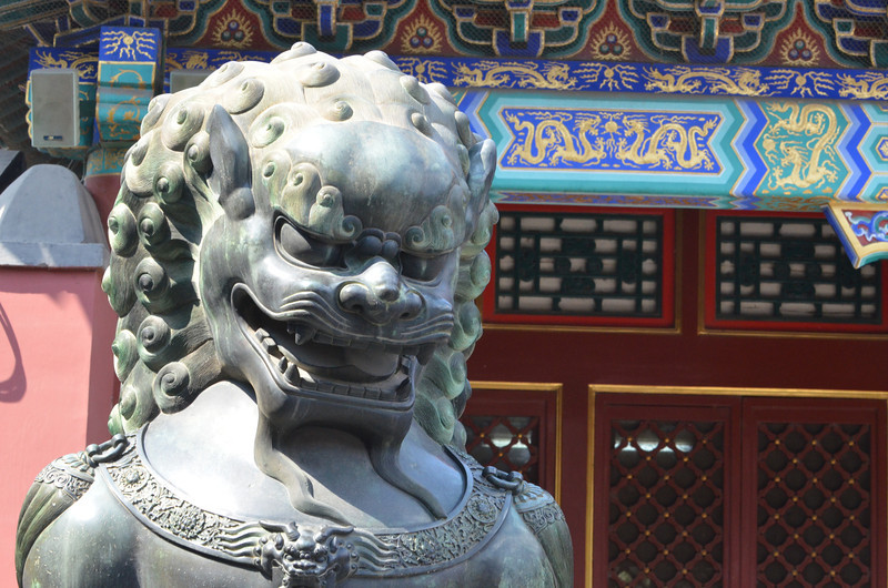 Chinese guardian lioness, a Shishi, at the Summer Palace in Beijing. Such lions were thought to have mystic powers for protection (2)
