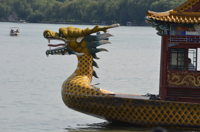 Dragon  boat on Kunming Lake at the Summer Palace in Beijing.