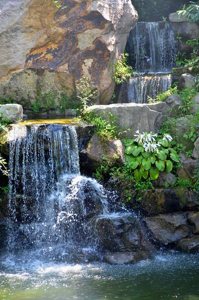 Waterfall in the Mutianyu Garden, near the Great Wall of China