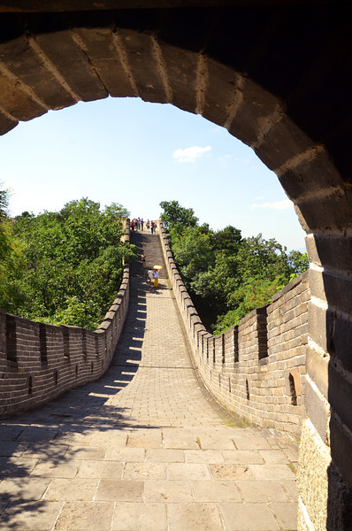 Arch and walls of the Mutianyu section of the Great Wall of China