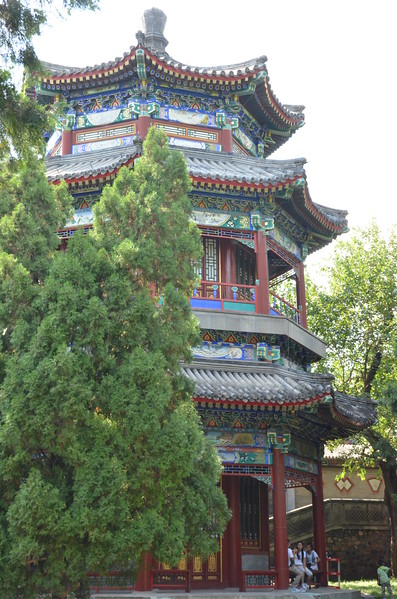 A Pavillion at the Summer Palace in Beijing. .