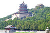 Grand buildings of the Summer Palace (northwest Beijing) on Longevity Hill, overlooking Kunming Lake.  The Hill is artificial, having been made from the dirt excavated to create the Lake.