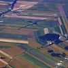 Flight from Newark to Beijing: Fields Near the St Lawrence, Canada