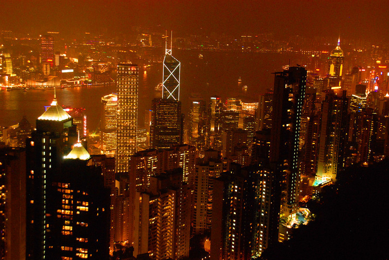 Hong Kong 33 Night View from the Cafe Deco