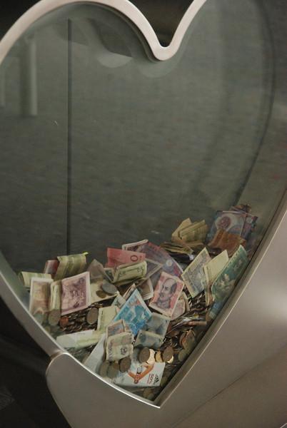 Hong Kong 45 Donation Box at Airport