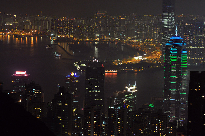 Hong Kong 40 Night View from the Cafe Deco