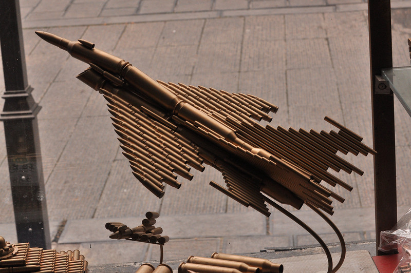 Model Plane Made of Bullets at the Longmen Grottoes Stores