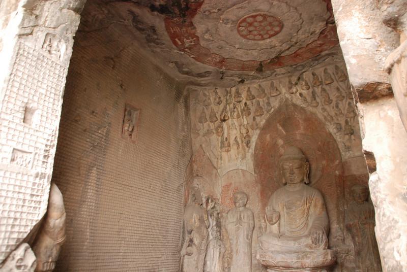 Buddha Under Lotus Longmen Grottoes