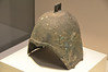 Bronze Helmet from the Warring States Period (403 - 221 B.C.); Unearthed at Meilihe in Inner Mongolia, on display at the National Museum of China, Beijing, People's Republic of China.