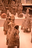 Pottery Figures, Northern Wei Dynasty (A.D. 386 - 534); unearthed at Caochangpo in Shaanxi Province; on display at the National Museum of China, Beijing, People's Republic of China.