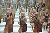 Terra-cotta army from the Qin Dynasty (221-206 B.C.); Unearthed from the Qin terra-cotta army pit at Lintong, Shaanxi Province 1974, on display at the National Museum of China, Beijing, People's Republic of China.