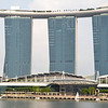 The ship-shaped Marina Bay Sands or Sands Sky Park (observation deck, restaurants, etc.) tops the three towers of the IR or Integrated Resort of Singapore