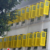 Yellow shutters in Singapore