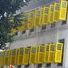 Yellow shutters in Singapore