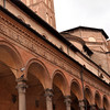 Basicila San Giacomo Maggiore (Church of Saint James the Major) on Via Zamboni, Bologna, Italy