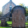 Peden Headstone and Old Church Building