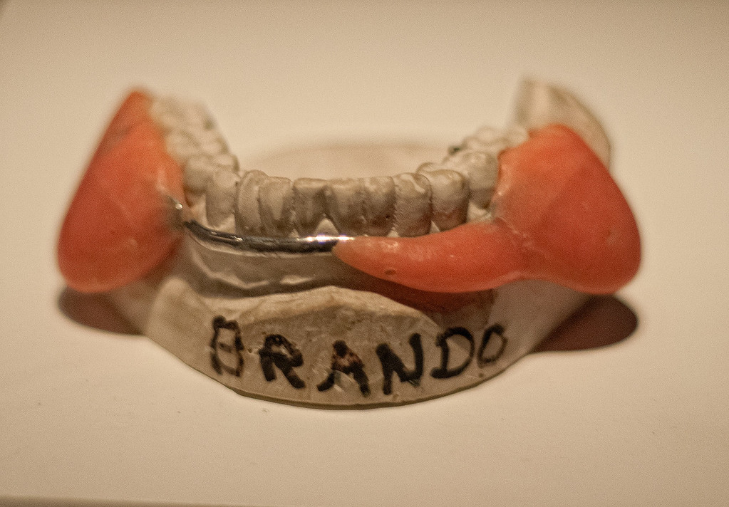 MARLON BRANDO'S TEETH IN THE GODFATHER. USED TO CREATE THE JOWLS
