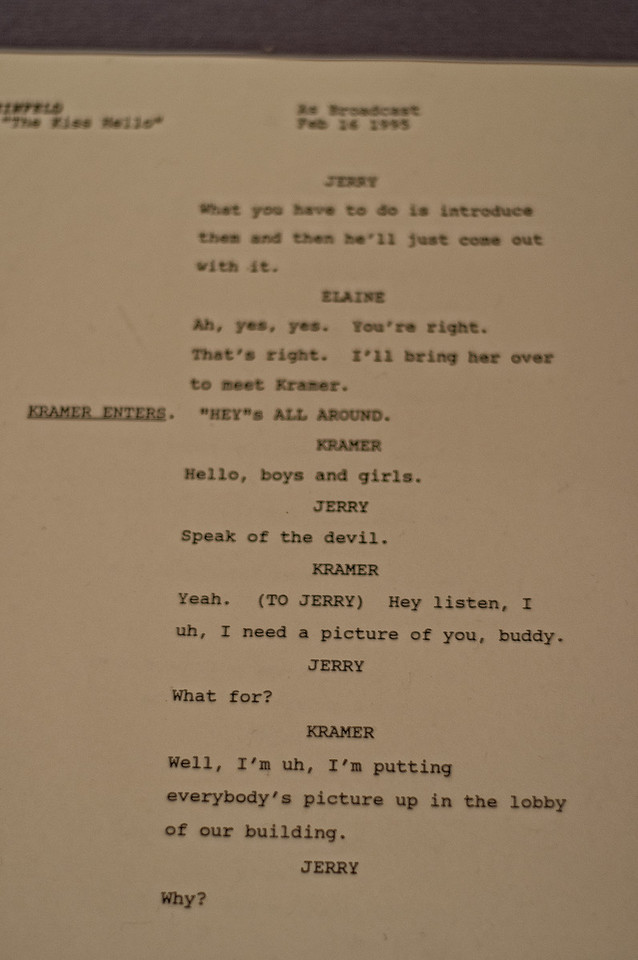 COPY OF SEINFELD SCRIPT