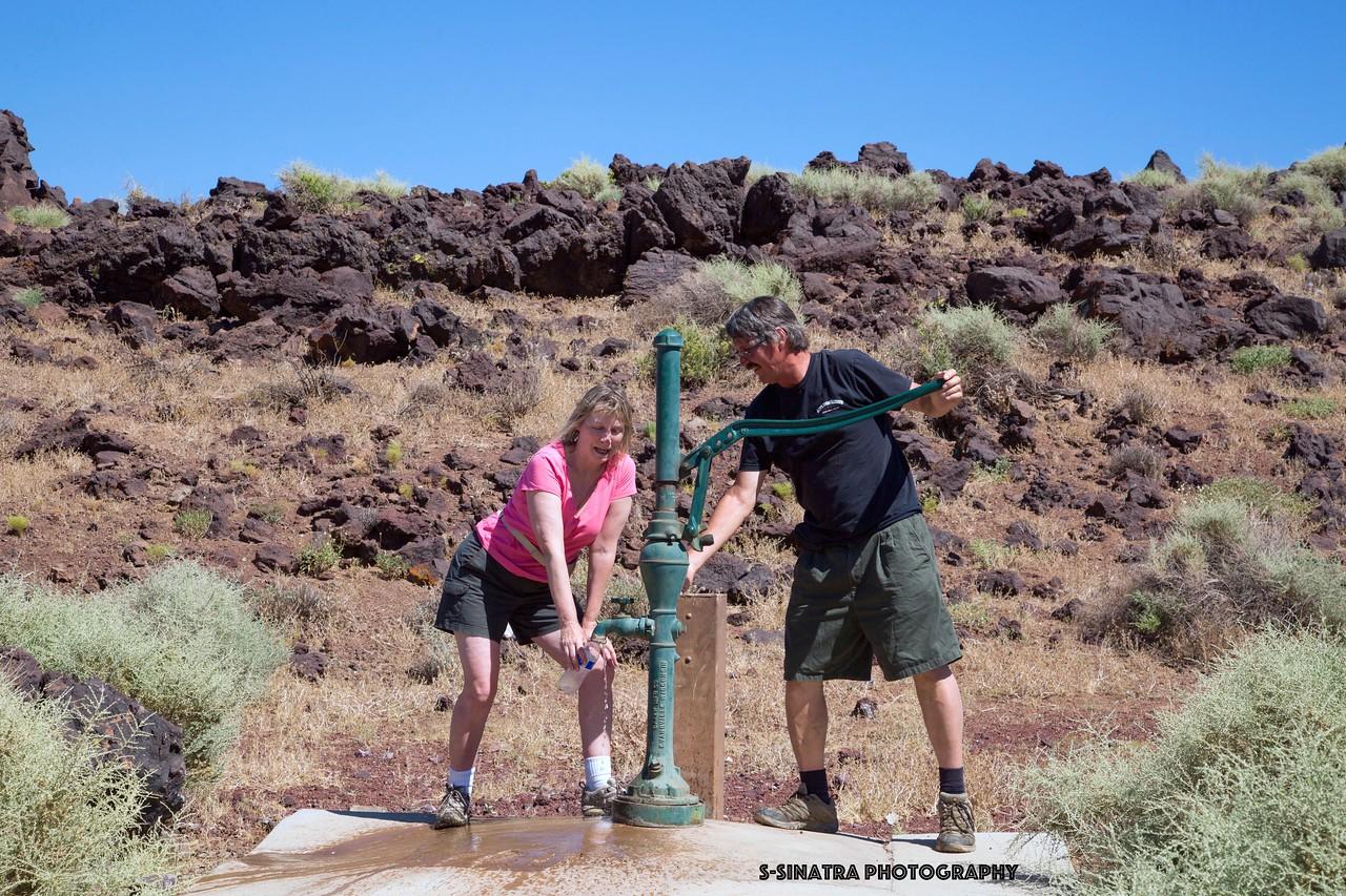 Fossil falls water pump